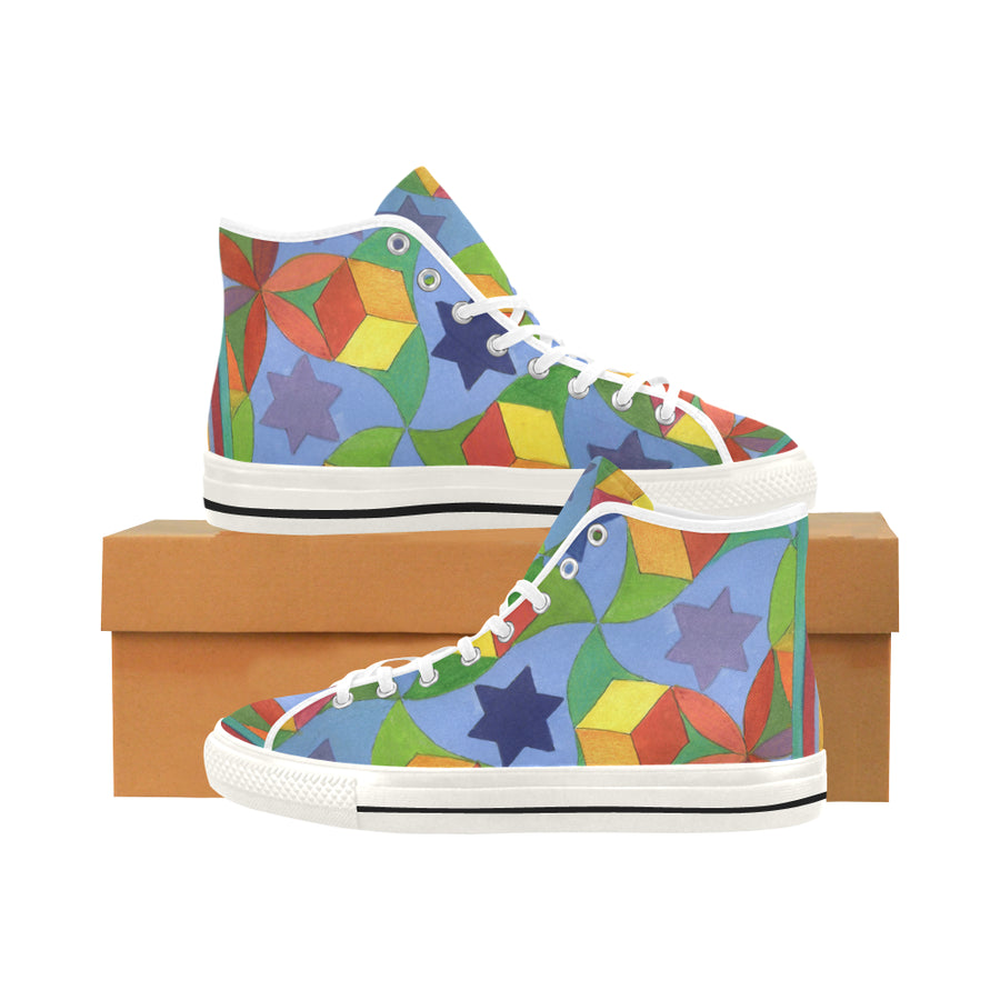 STARS AND BLOCKS High Top Sneakers - Liz Lauter Designs
