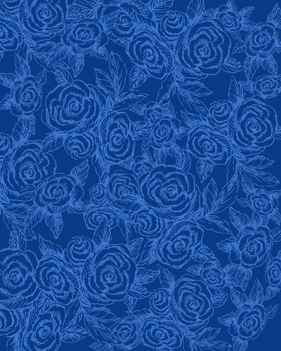 Sketch Roses Denim Blues Leggings - Liz Lauter Designs