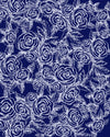 SKETCH ROSES on NAVY Capri Yoga Pants - Liz Lauter Designs