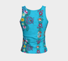 TURQUOISE EMBROIDERY TANK - Liz Lauter Designs