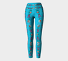 TURQUOISE EMBROIDERY Yoga Pants - Liz Lauter Designs