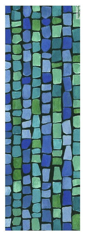 Blue Green Tiles - Yoga Mat - Liz Lauter Designs
