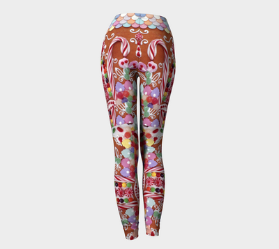 GINGERBREAD WONDERLAND LEGGINGS - Liz Lauter Designs