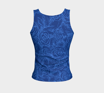 SKETCH ROSES DENIM BLUES - Liz Lauter Designs