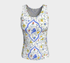 Blue Birds Fitted Tank - Liz Lauter Designs