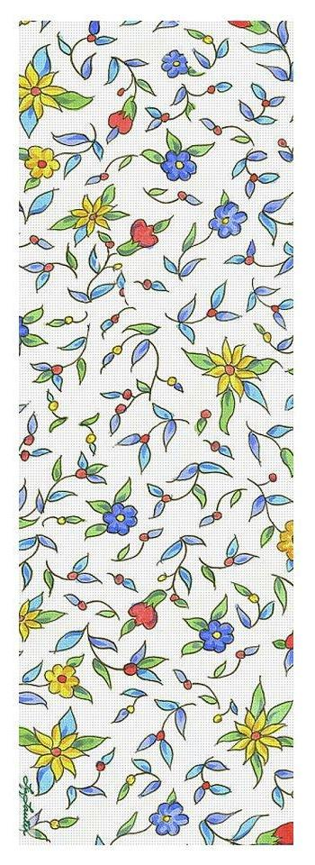 Iznik Flowers On White - Yoga Mat - Liz Lauter Designs