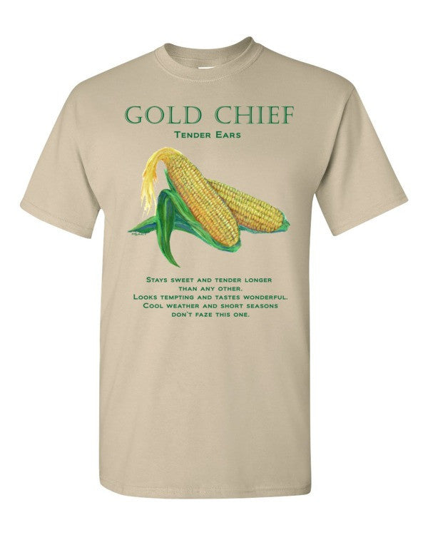GOLD CHIEF Corn Short sleeve men's t-shirt available on different colors - Liz Lauter Designs