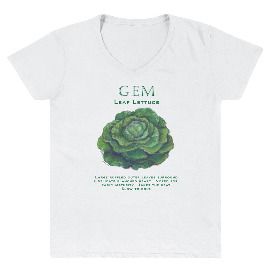 GEM Lettuce Women's Casual V-Neck Shirt - Liz Lauter Designs