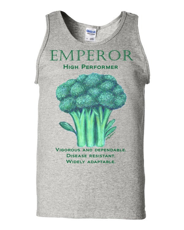 Broccoli Emperor Men'sTank top by Liz Lauter - Liz Lauter Designs