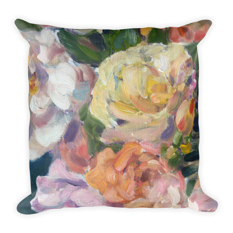 Antique Roses Pillow - Liz Lauter Designs