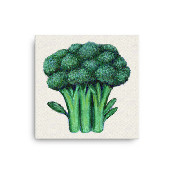 Broccoli Chalk Painting - Liz Lauter Designs