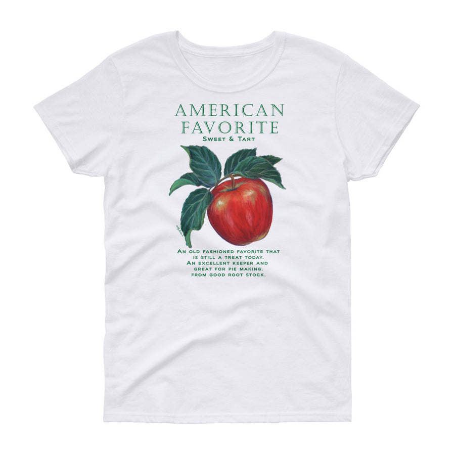 FUNNY GARDEN T SHIRT APPLE American Favorite Women's short sleeve t-shirt - Liz Lauter Designs