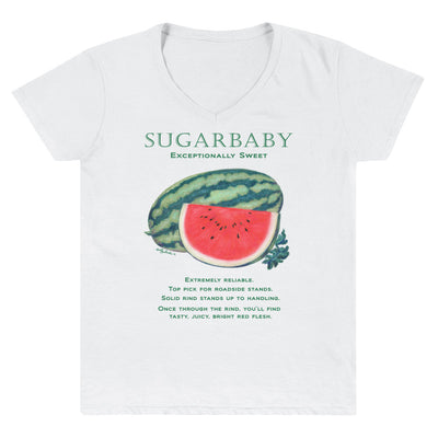 WATERMELON Sugarbaby Women's Casual V-Neck Shirt - Liz Lauter Designs