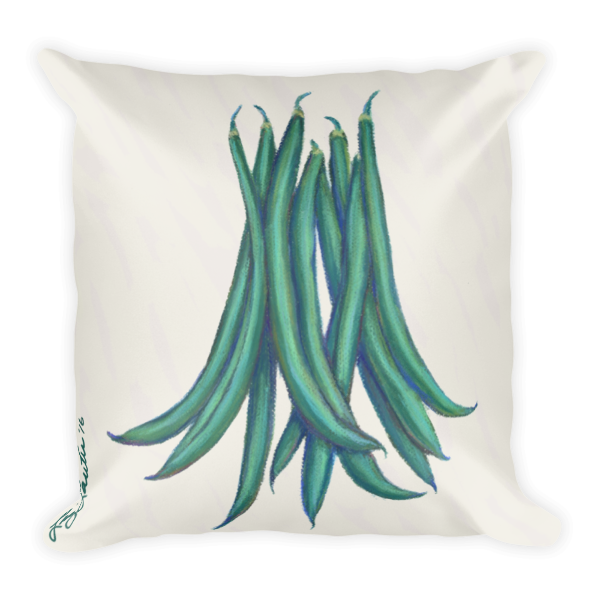 Bush Beans Pillow - Liz Lauter Designs