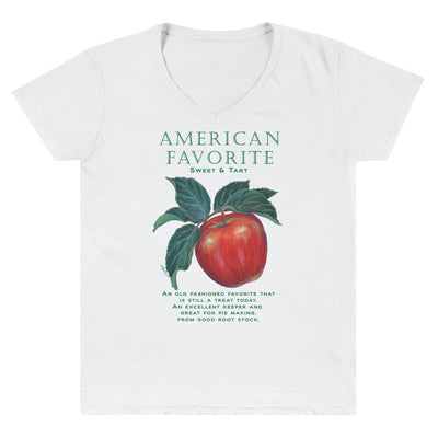 APPLE American Favorite Women's Casual V-Neck Shirt - Liz Lauter Designs