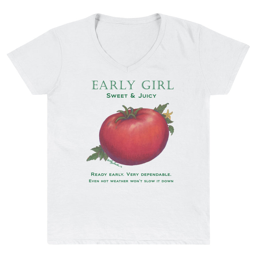 TOMATO Early Girl Women's Casual V-Neck Shirt