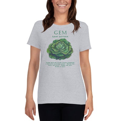 GEM Lettuce Women's short sleeve t-shirt - Liz Lauter Designs