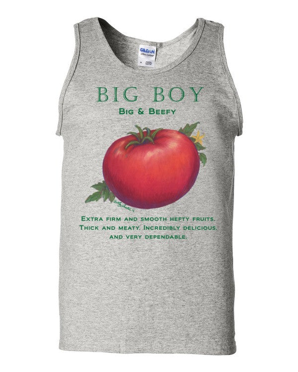 Big Boy Tomato Men's Tank top by Liz Lauter - Liz Lauter Designs