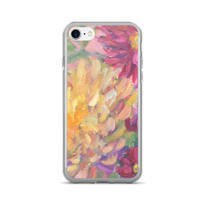 Pink Dahlias iPhone 7/7 Plus Case - Liz Lauter Designs