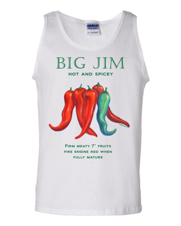 Big Jim Chili Pepper Men's Tank top by Liz Lauter - Liz Lauter Designs