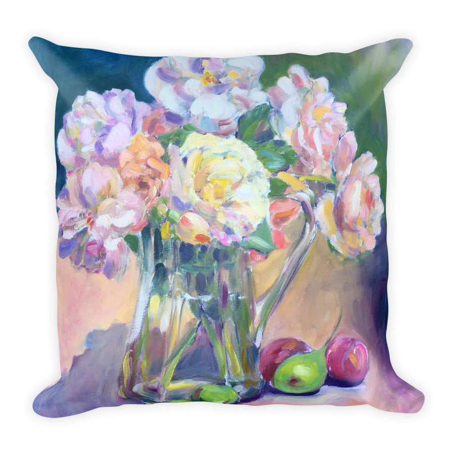 Antique Roses Still Life Pillow - Liz Lauter Designs