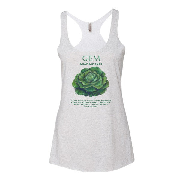 GEM LETTUCE Women's tank top by Liz Lauter - Liz Lauter Designs
