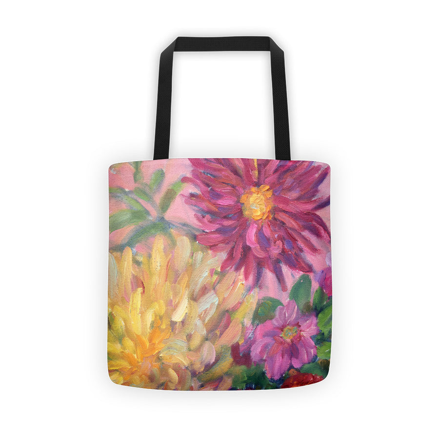Pink Dahlias Tote bag - Liz Lauter Designs