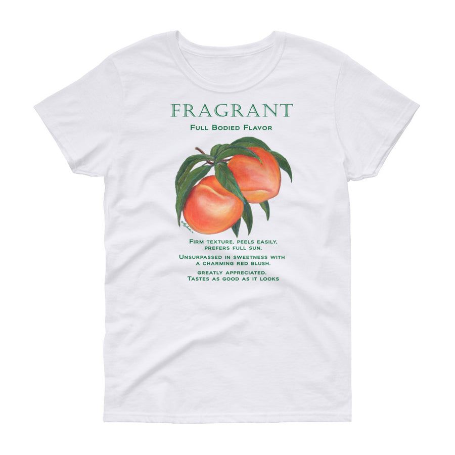 PEACHES Fragrant Women's short sleeve t-shirt - Liz Lauter Designs