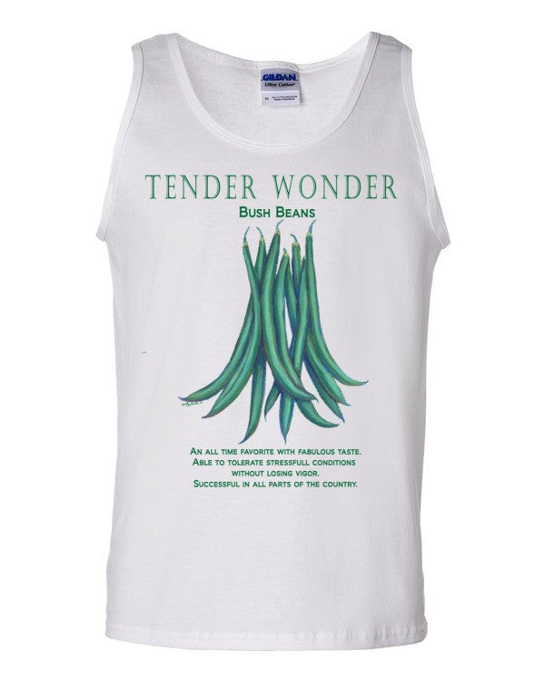 Bush Beans TENDER WONDER Men's Tank top by Liz Lauter - Liz Lauter Designs