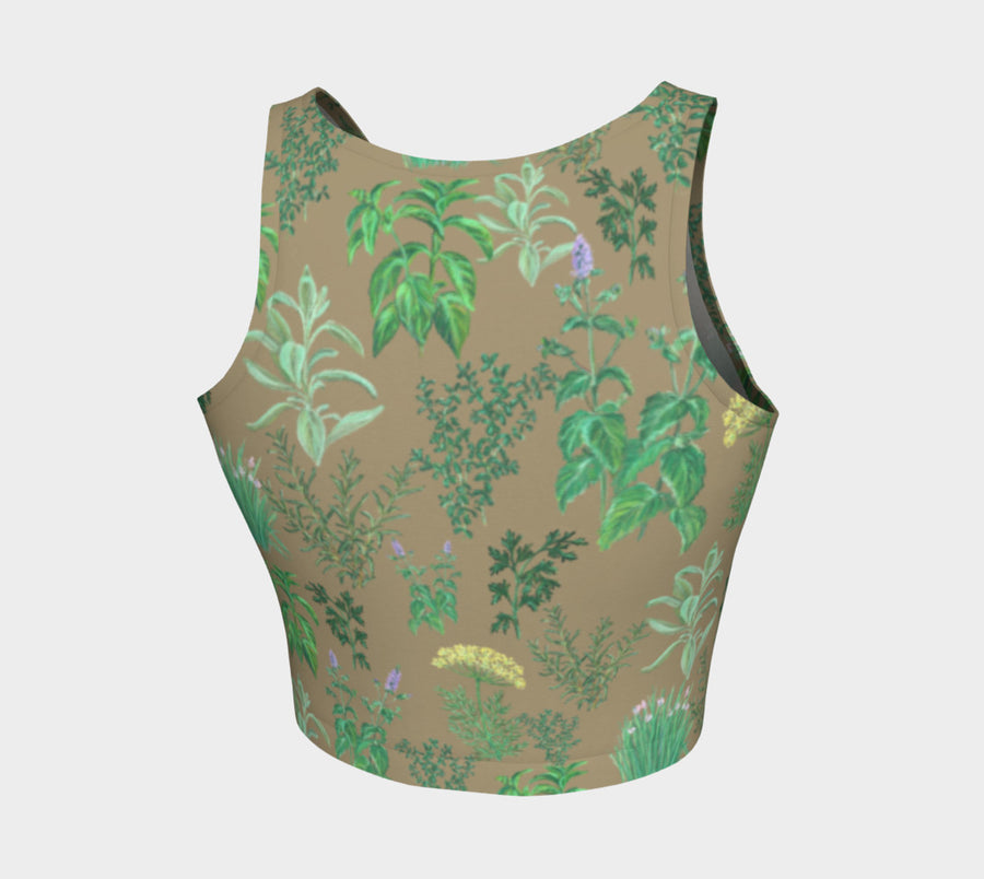 HERB GARDEN Athletic Crop Top - Liz Lauter Designs