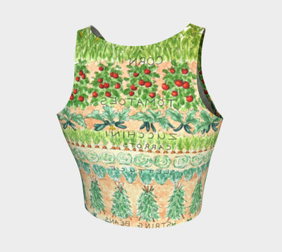 VEGGIE GARDEN ATHLETIC CROP TOP - Liz Lauter Designs
