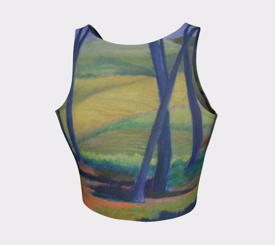 FIELD IN ISRAEL ATHLETIC CROP TOP - Liz Lauter Designs