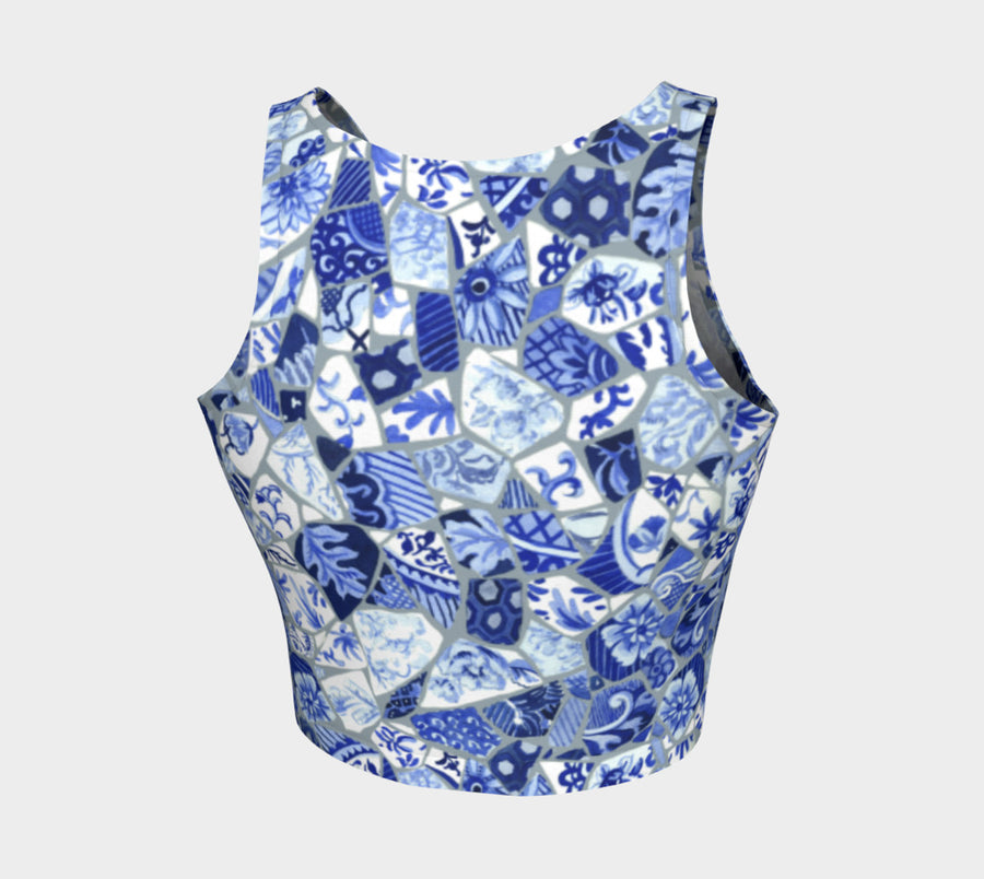 Mosaic Athletic Crop Top - Liz Lauter Designs
