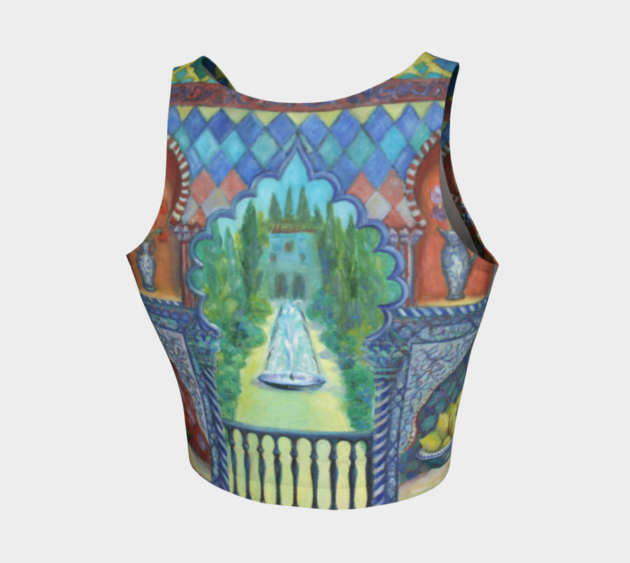 Garden of Delights Athletic Crop Top - Liz Lauter Designs