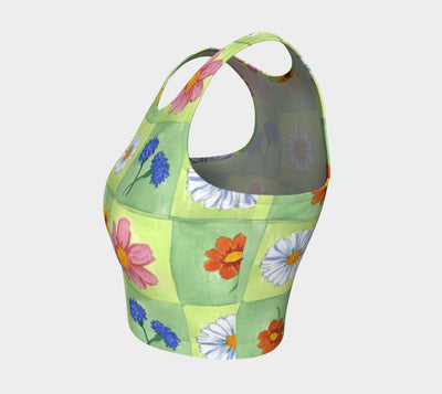 Flower Boxes Athletic Crop Top - Liz Lauter Designs