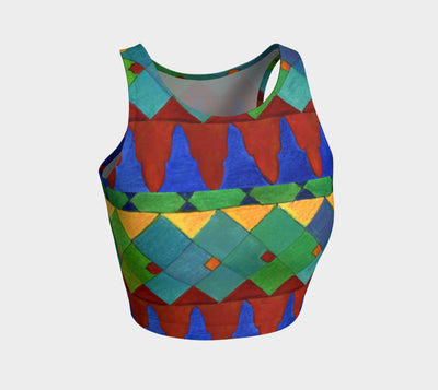 Bright Tiles Athletic Crop Top - Liz Lauter Designs