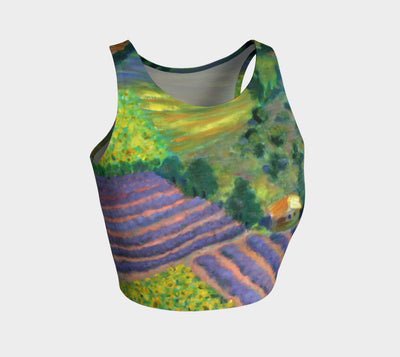 Provence Athletic Crop Top - Liz Lauter Designs