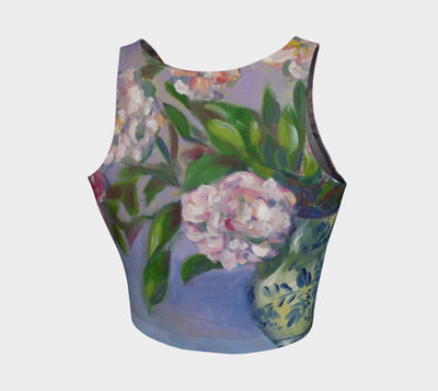 Cecil Breuner Roses Athletic Crop Top - Liz Lauter Designs