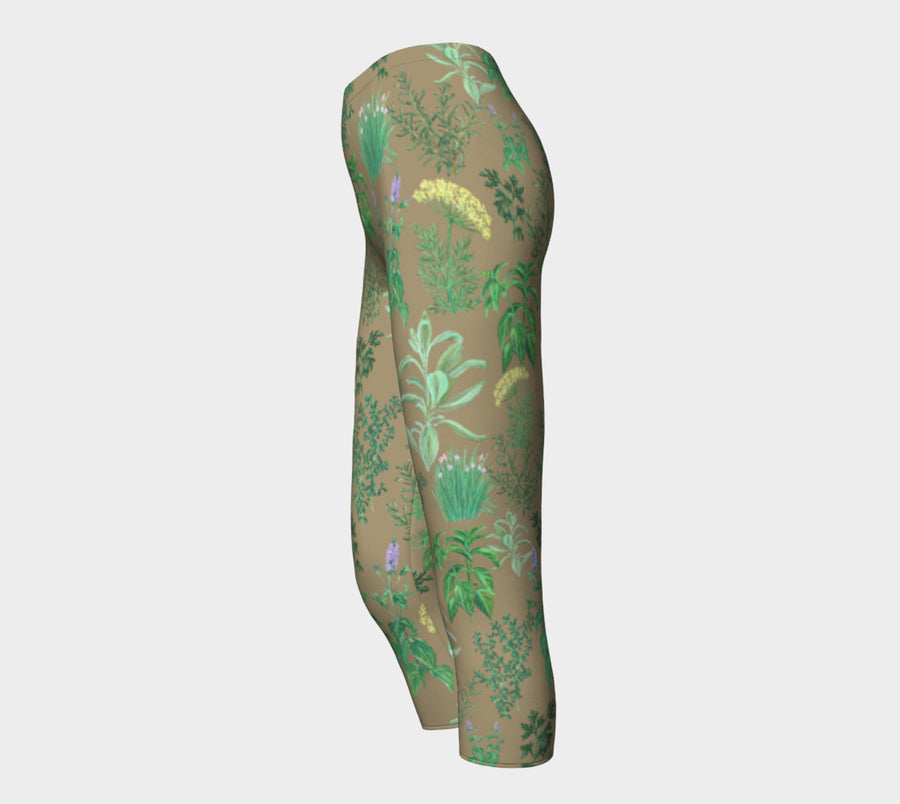 HERB GARDEN Capri Leggings - Liz Lauter Designs