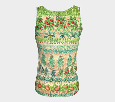 VEGGIE GARDEN Fitted TANK TOP long - Liz Lauter Designs