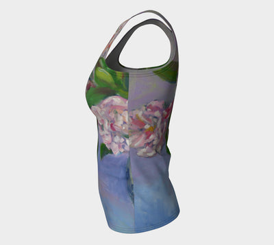 Cecil Bruner Roses Fitted Tank Top Long - Liz Lauter Designs