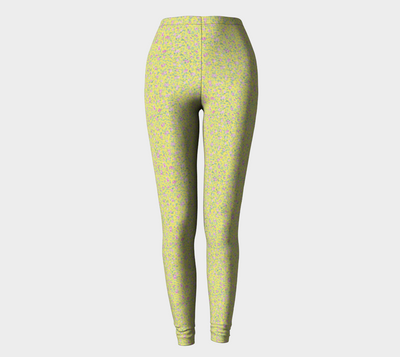 Yellow Flowers Leggings - Liz Lauter Designs