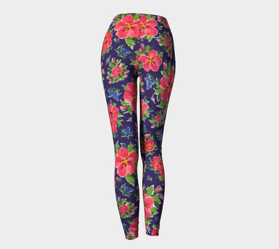 HIBISCUS NAVY Leggings - Liz Lauter Designs