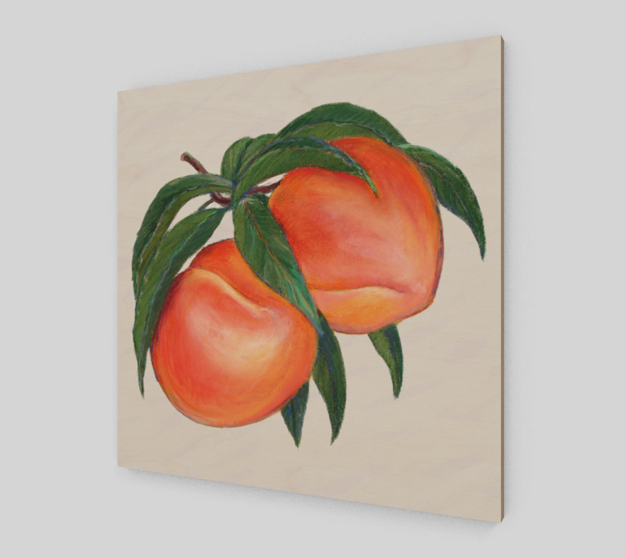 PEACHES WOOD PANEL - Liz Lauter Designs