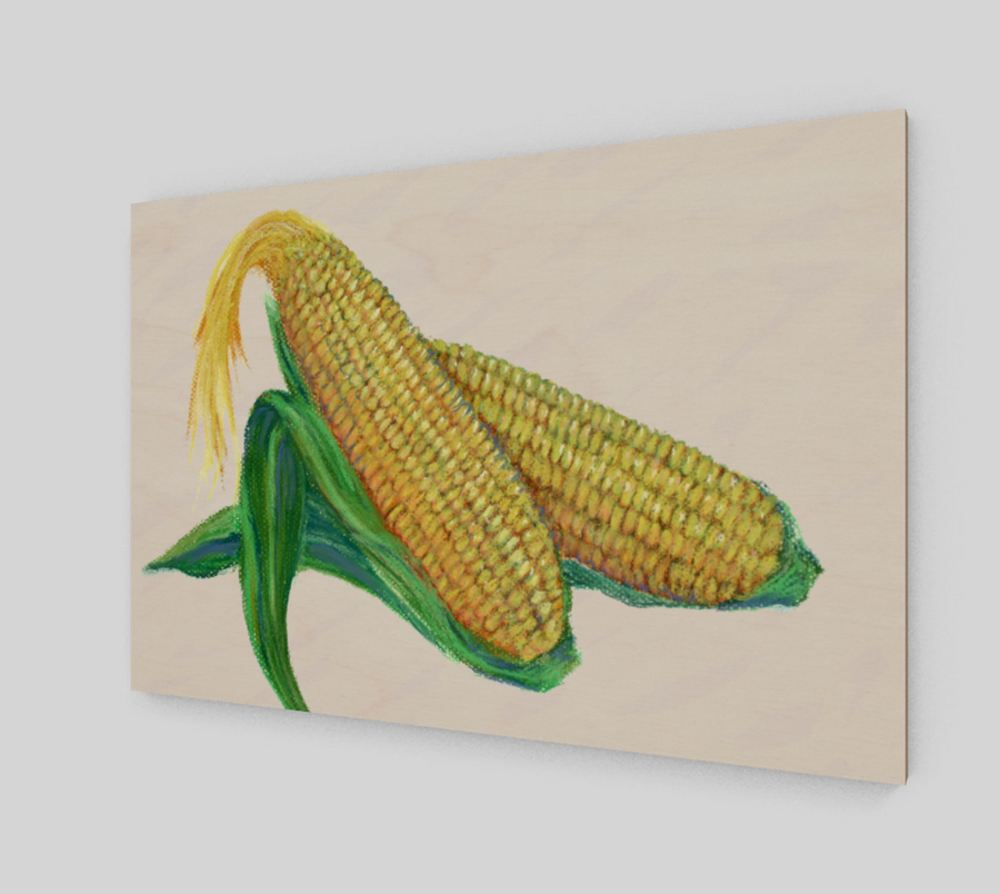 CORN WOOD PRINT - Liz Lauter Designs