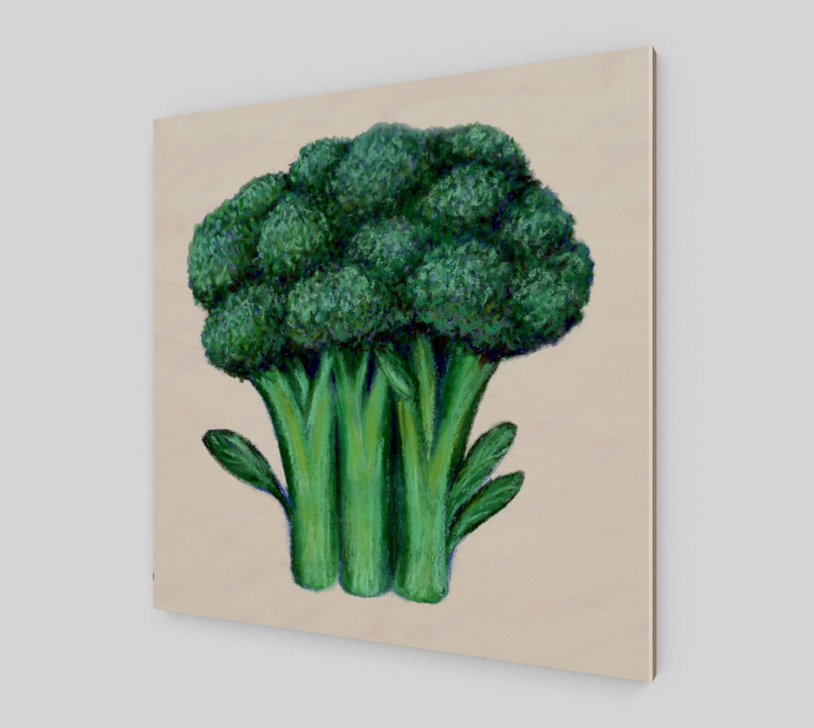 BROCCOLI WOOD PRINT - Liz Lauter Designs