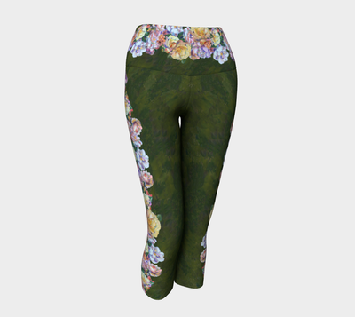 ROSE GARLAND YOGA CAPRIS - Liz Lauter Designs