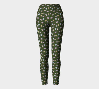 Roses All Around Yoga Pants - Liz Lauter Designs
