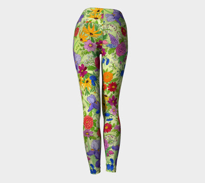 FLOWER GARDEN YOGA PANTS - Liz Lauter Designs