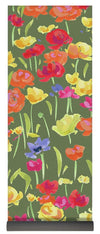 Ranunculas On Green - Yoga Mat - Liz Lauter Designs